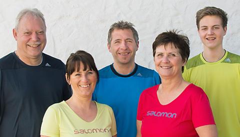 Unser Team: Hannes, Hacki, Regine, Sebastian und Irmi